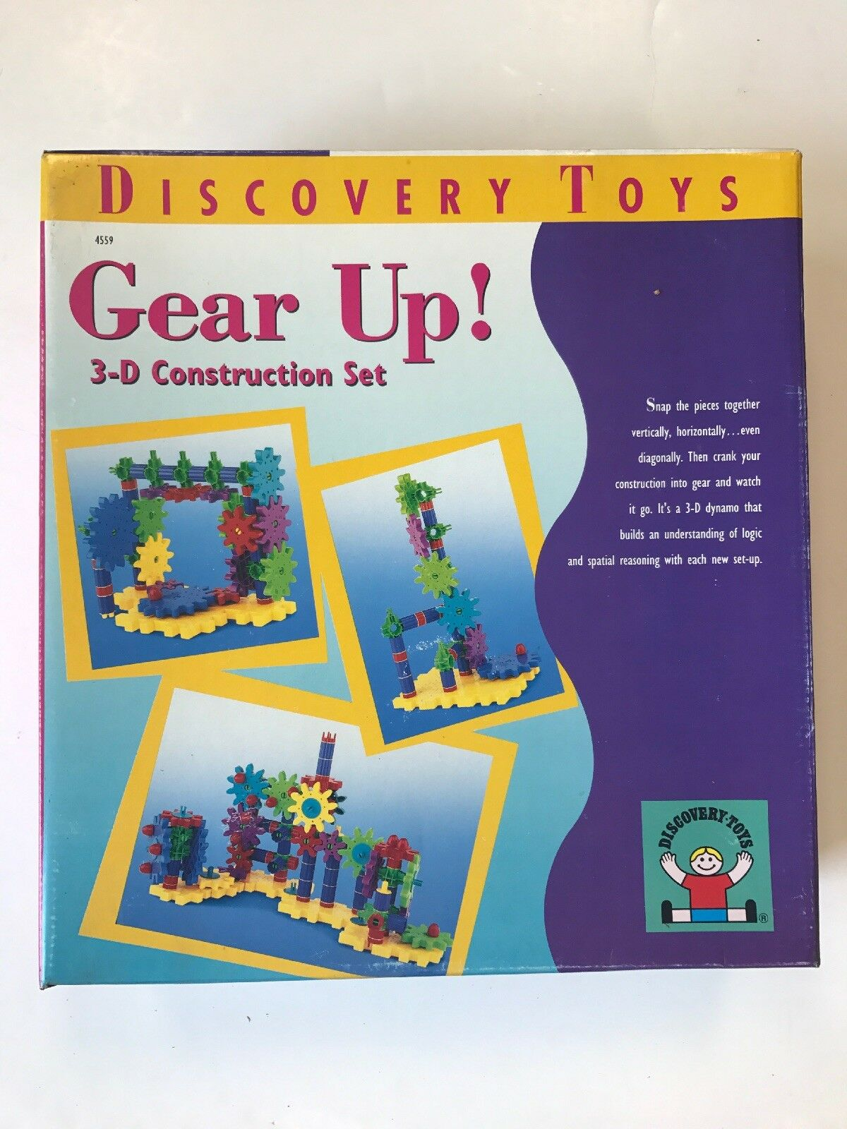Gear Up  Discovery Toys 3-D Construction Set NEW Age 6+ Elementary Learning 1999
