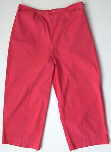 TALBOTS-Petites-Pink-Stretch-Cotton-Blend-Capri-Cropped-Pants-Size-2-P-Petite