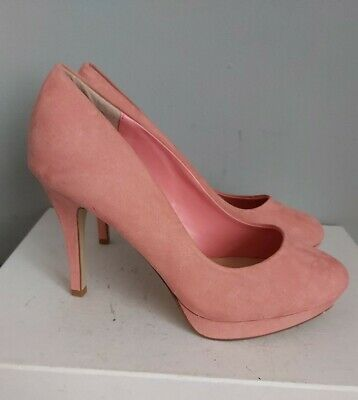 NEW LOOK Ladies Pink Suede Court Shoes