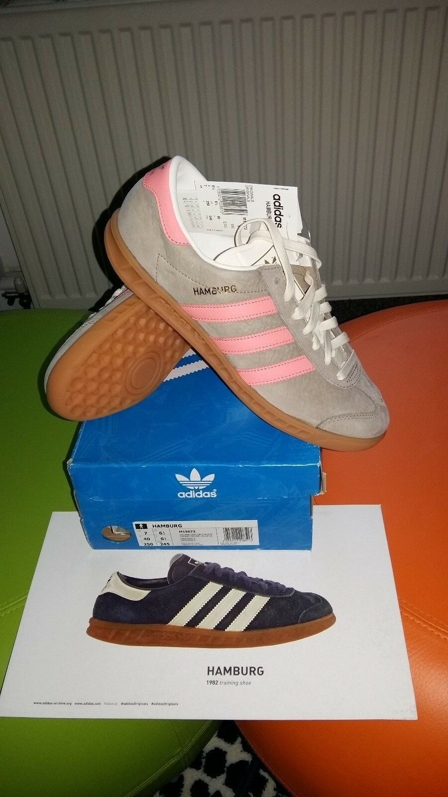 the latest fc339 bd657 Deadstock Adidas Adidas Adidas Hamburg Originals... Unisexe Baskets taille  6.5 UK... 40 euros 6424fc
