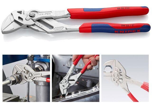 KNIPEX 8605250 Zangenschlüssel, Zange und Schraubenschlüssel, 250 mm