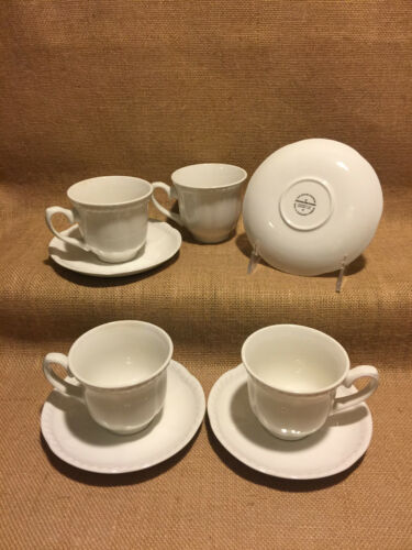 Johnson Brothers Old English White Cups Saucers 2 Sets More Available Excellent!