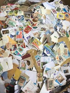 1Kg Of World Foreign Kiloware Stamps On Paper - No GB