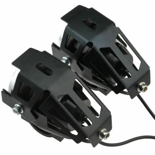 2xU5 125W LED Motorrad ATV Scheinwerfer Zusatzscheinwerfer Licht Lampen+Schalter