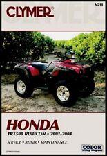 CLYMER MANUAL HONDA FOREMAN RUBICON TRX500FA 500 4X4 2001-2004 & TRX500FGA 2004