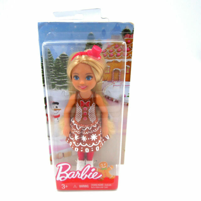 Mattel Barbie 2016 Chelsea Christmas 6in African American Doll Snowflake Dmn91 For Sale Online Ebay