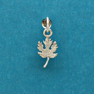 Vermont State Charm 925 Sterling Silver Eastern New England Maple Syrup Tiny