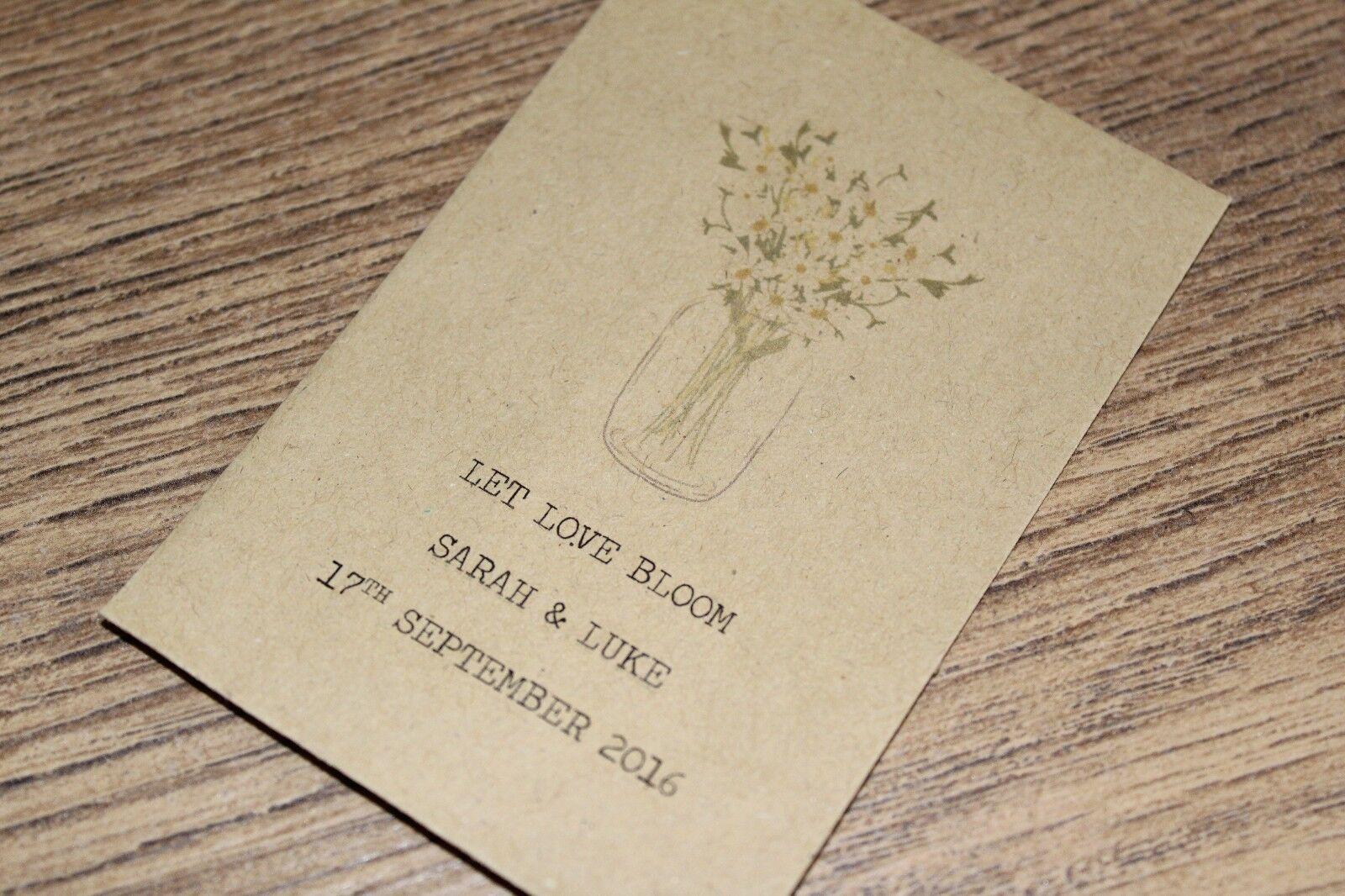 SEMI personalizzata pacchetti LET BUSTE Nozze Favori VINTAGE LET pacchetti LOVE Bloom 4d621a