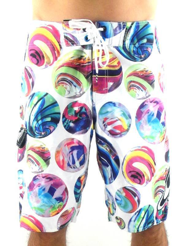 O'Neill Boardshort Swim Trunks Marbled White colord Lacing Marbles
