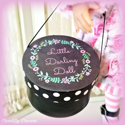 Adorable Hat Box for Little Darling Doll Wig Shoes Storage Prop