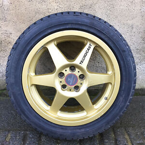 205 50 R16 >> Details About 16 Gold Tecnocast Lightweight Alloy Wheel With Tyre 5x100 Pcd 205 50 R16 Subaru