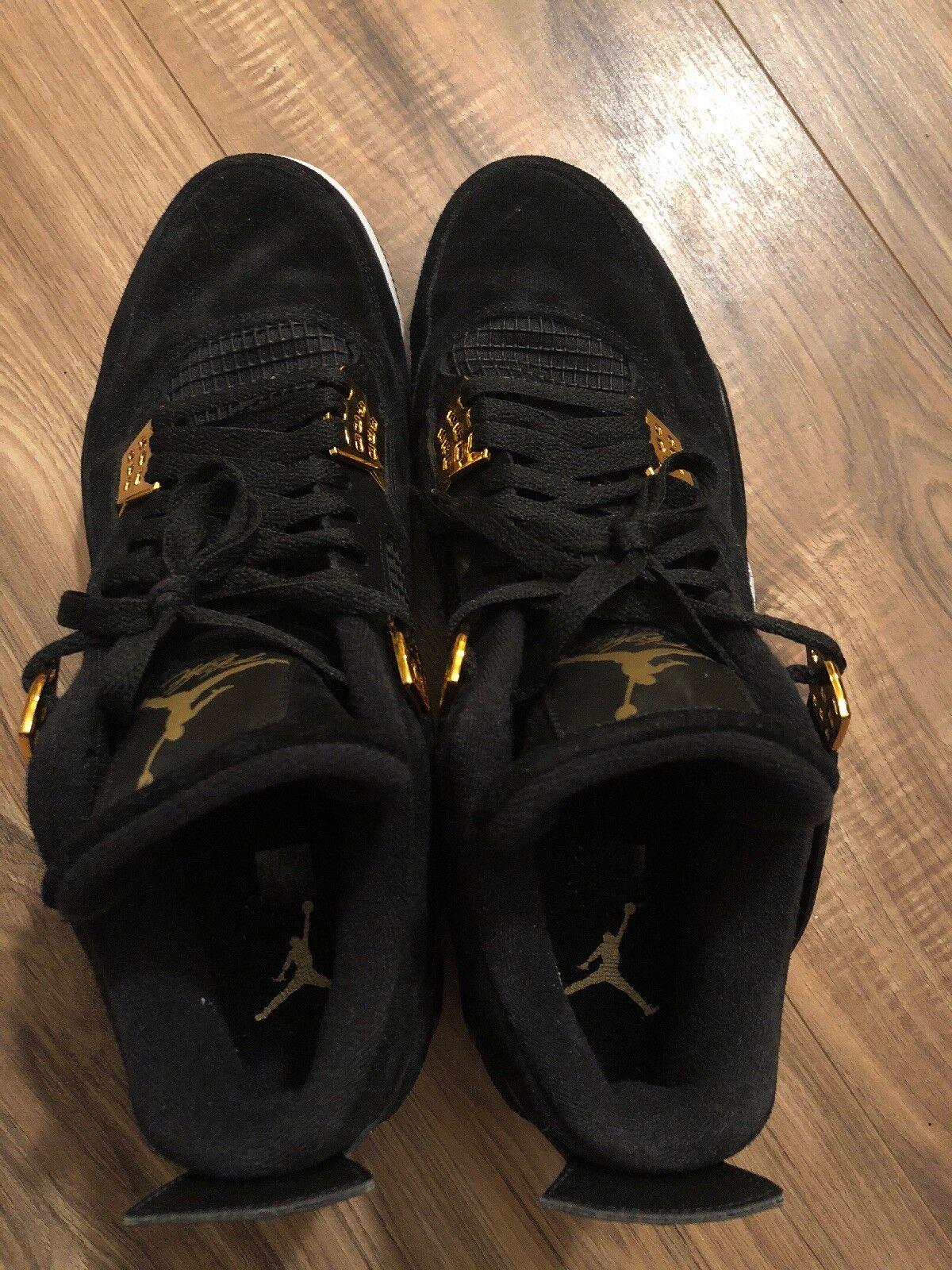 Nike Air Jordan 4 Royalty (308497-032) Size 13 - Black Metallic gold - Worn Once
