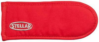 STELLAR RED Double Oven Gloves Cotton.Thermal Lined Manufactured to BS6526.