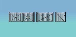 Ratio 435.GWR Sp. Fencing- Gates & Ramps - Black (00)