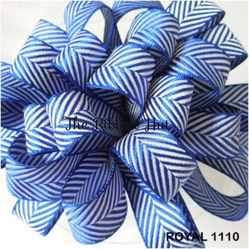10//16//25mm 1M//3M//5Mtrs-Twill//Chevron Ribbon Bersifords Herringbone Ribbon