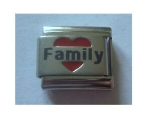 9mm-Italian-Charms-L54-Love-Heart-Family-Fits-Classic-Size-Bracelet