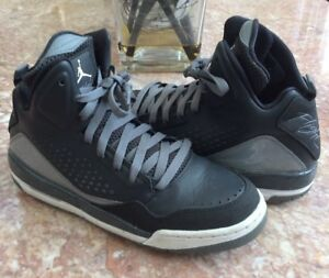 93717470a6c41a Nike Air Jordan Flight Youth Anthracite Blk Basketball Shoes Size 7Y ...
