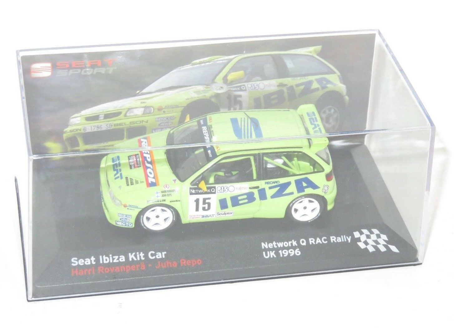 1 43 Seat Ibiza Kit Car   Network Q RAC Rally 1996    H.Rovanpera   J.Repo