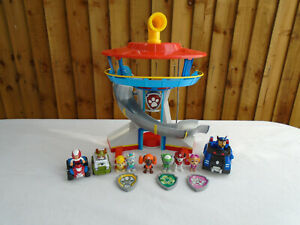 Paw-Patrol-Look-out-Tower-Playset-plus-vehicules-amp-Pups-y-compris-Everest