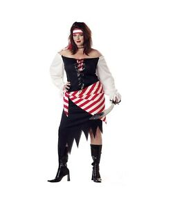 Image is loading RUBY-THE-PIRATE-BEAUTY-ADULT-HALLOWEEN-COSTUME-WOMEN-  sc 1 st  eBay & RUBY THE PIRATE BEAUTY ADULT HALLOWEEN COSTUME WOMENu0027S PLUS SIZE 1X ...