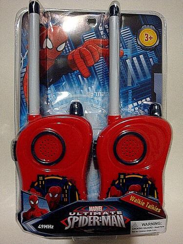 RED,KIDS 3+,NEW MARVEL ULTIMATE SPIDER-MAN,WALKIE TALKIE SET,W// BELT CLIP,COLOR