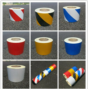 """Safety Reflective caution Tape Self-adhesive width 10cm(4"""") multicolor selection"""