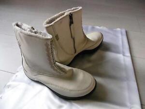 Details zu HellyHansen, Damen kurze Stiefel in cremeweiß, Echt Leder,Größe 36, gebraucht