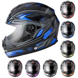 Motorbike-Full-Face-Pinlock-Helmet-Crash-Visor-Motorcycle-Scooter-Riding-Helmet