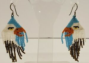 Native American turquoise clip on dangle earrings non-pierced Native American dangle earrings