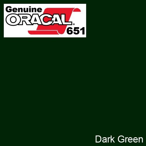 "ORACAL 651 Dark Green Gloss Vinyl Wrap Film 12/"" x 5ft Solvent-Based Adhesive DIY"