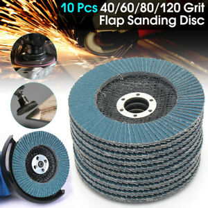 20PCS-125mm-Flap-Discs-Wheels-Grinding-Sanding-40-60-80-120-Grit-Angle-Grinder