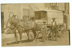 RPPC-Crystal-Spring-Dairy-Wagon-ERIE-PA-Oil-City-Real-Photo-Postcard