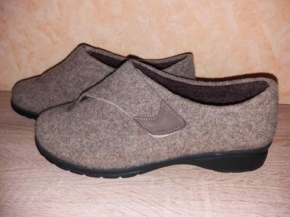 Ströber velcro casa zapato zapato zapato clog nuevo talla 7,5 41,5 K en Taupe & fieltro para los depósitos 284dbe