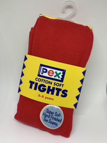 Pex Cotton Soft Girls Tights Red