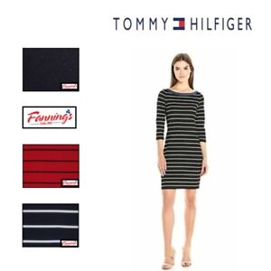 SALE-NWT-Tommy-Hilfiger-Women-039-s-3-4-Sleeve-Boat-Neck-Dress-SIZE-COLOR-VARIETY