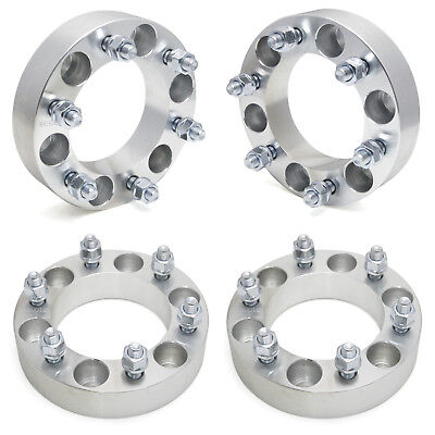 """4pc 1/"""" Hubcentric Black Wheel Spacers for Chevy 5x4.75 to 5x4.7512x1.5 Studs"""