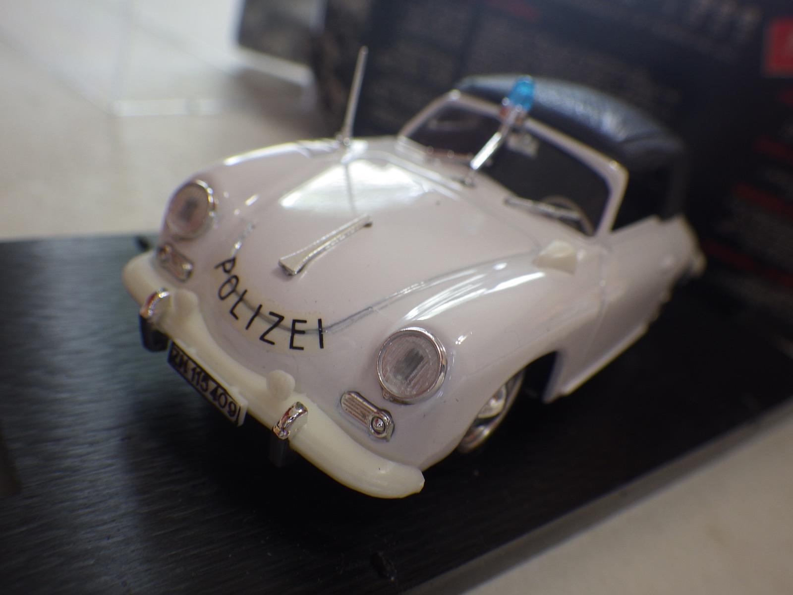 Brumm () Weiß Porsche 356A Cabriolet Polizei Switzerland Diecast 1 43 NIB