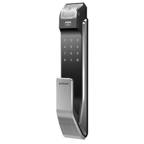 USED Samsung SHS-P718LBK//EN Fingerprint Digital Door Lock Push Pull ENGLISH