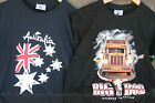 MENS TEE SHIRT - AUST DESIGN & PRINT- SURF ROOS CRUISIN FLAG GRAFFITI ROAD BOSS