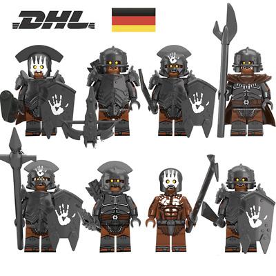 8 Minifiguren Orks Uruk Hai Herr Der Ringe Armee Lego Kompatibel Geschenk Ebay