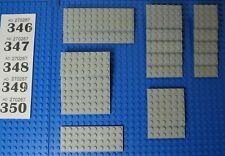 15X LEGO Large black plates + 6x6 6x12 4x4 4x6 4x8 4x10 4x12 - VGC #W471-80