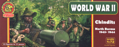 Segunda Guerra Mundial 1:72 Ultima Ratio-Chindits-Norte Burma 1943-1944