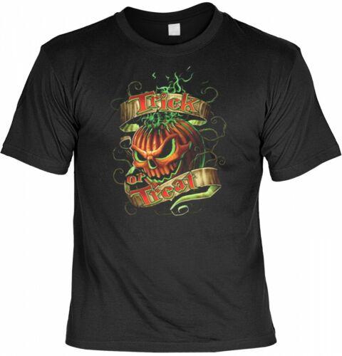 Trick or Treat T-Shirt USA Shirt bedruckt Halloween