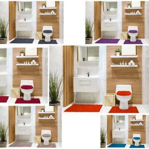 2 piece Bath Mat and Pedestal Set with Non Slip Back 100/% Cotton Pile