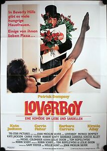 Details About Loverboy German Movie Poster Patrick Dempsey Leggy Kate Jackson Robert Ginty