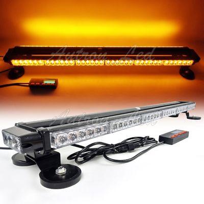 """38/"""" 78LED Amber/&White Traffic Advisor Light Double Side Emergency Warning Strobe"""
