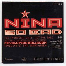 Nina Hagen CD So Bad - 1-track promo in cardsleeve - 862 780-2