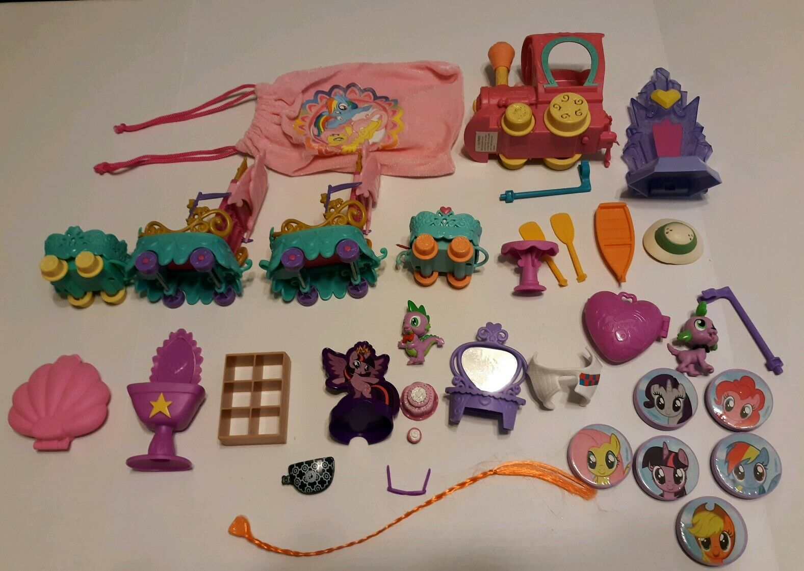 LOT OF 34     My Little Pony Equestria Accessories Train Ink Stampers 22e7fa