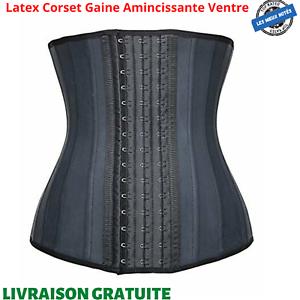 Latex Corset Gaine Amincissante Ventre Plat Waist Trainer Ceinture Minceur Body
