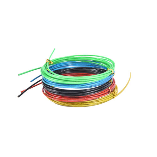 Colorful Crossfit Replaceable Wire Cable Speed Jump Ropes Skipping Rope  SN